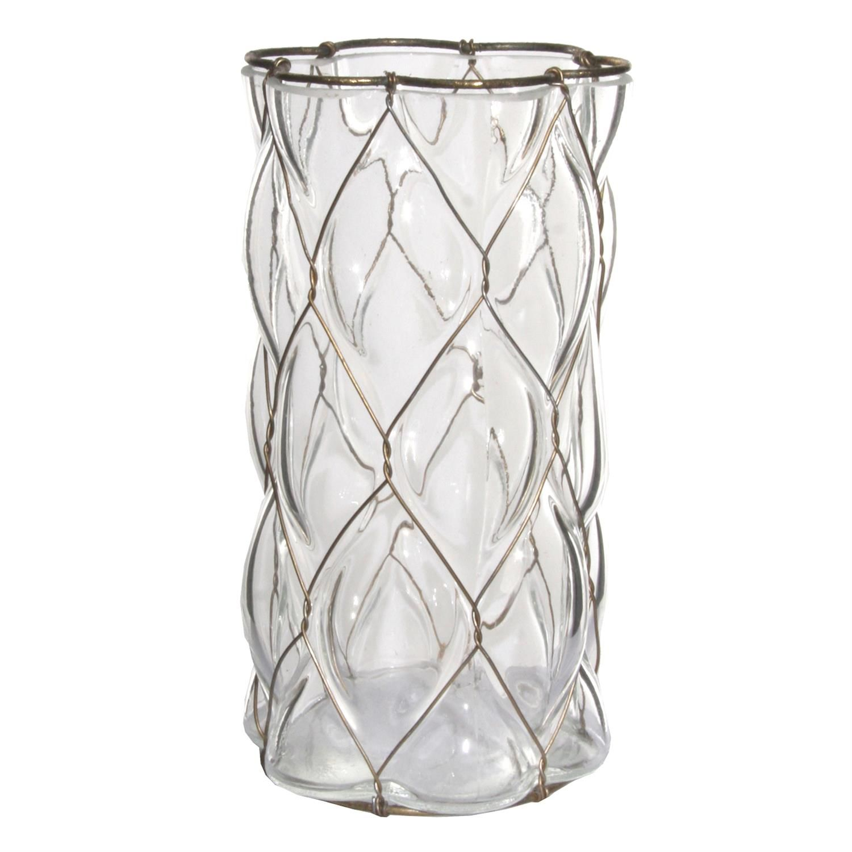 LYSLYKT/VASE GLASS H18,5CM