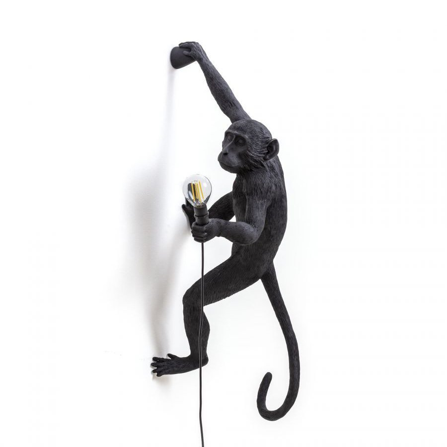 MONKEY LAMP/HANGING ON RIGHT ARM BLACK OUTDOOR