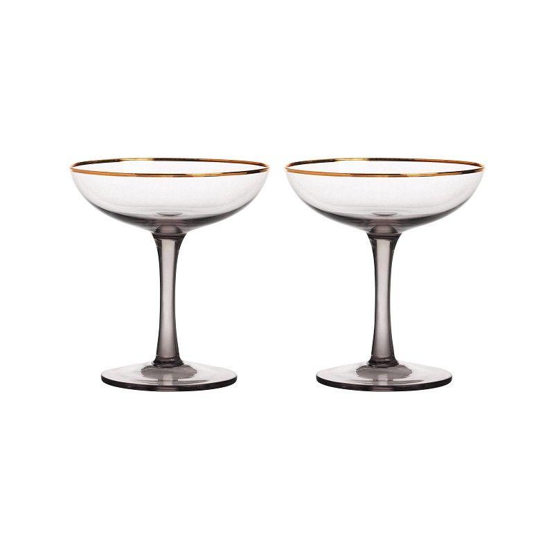 CHAMPAGNE GLASS SOTET SET AV 2
